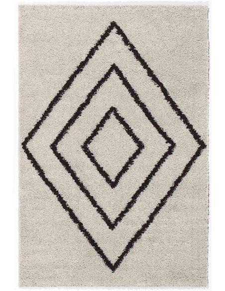 Tapis shaggy ASMA 500 Moderne shaggy Rectangulaire Beige