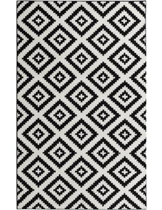 Tapis TAVLA scandinave Rectangulaire Noir