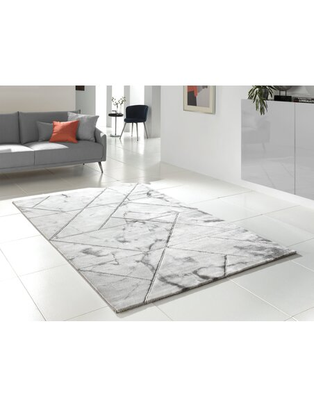 Tapis MARBLE 299 moderne Rectangulaire Gris