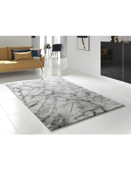 Tapis MARBLE 299 moderne Rectangulaire Or
