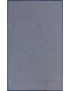 Tapis WOOLY Rayures bleues + lin