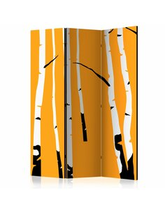 Paravent 3 volets BIRCHES ON THE ORANGE BACKGROUND  | Artgeist |