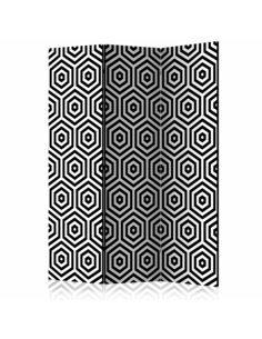 Paravent 3 volets BLACK AND WHITE HYPNOSIS  | Artgeist |