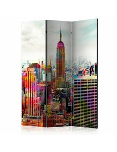 Paravent 3 volets COLORS OF NEW YORK CITY  | Artgeist |