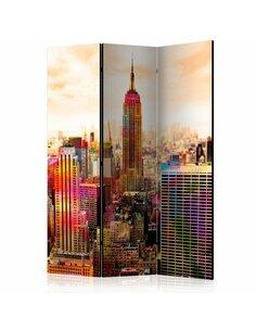 Paravent 3 volets COLORS OF NEW YORK CITY III  | Artgeist |