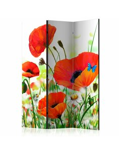 Paravent 3 volets COUNTRY POPPIES  | Artgeist |