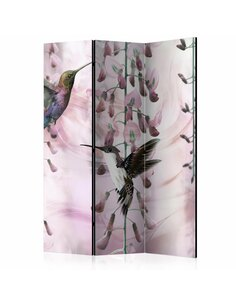 Paravent 3 volets FLYING HUMMINGBIRDS ROSE  | Artgeist |
