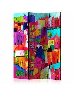 Paravent 3 volets RAINBOW-HUED TOWN  | Artgeist |