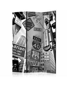 Paravent 3 volets ROADS TO MANHATTAN  | Artgeist |