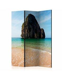 Paravent 3 volets ROCK FORMATION BY SHORELINE, ANDAMAN SEA, THAILAND  | Artgeist |
