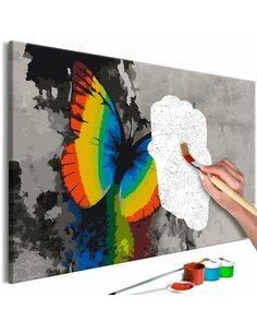 Tableau à peindre COLOURFUL BUTTERFLY  | Artgeist |