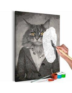 Tableau à peindre ELEGANT CAT  | Artgeist |