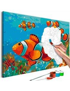 Tableau à peindre GOLD FISHES  | Artgeist |