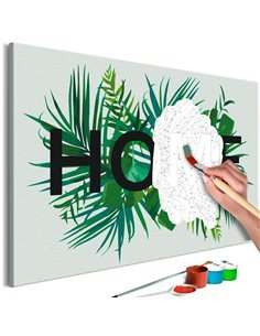 Tableau à peindre HOME ON THE LEAVES    Artgeist  