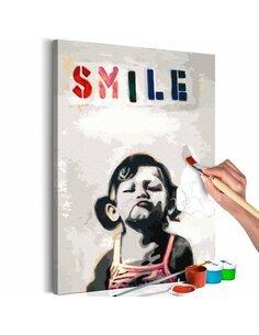 Tableau à peindre LITTLE GIRL  | Artgeist |
