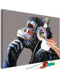Tableau à peindre MUSICAL MONKEY  | Artgeist |