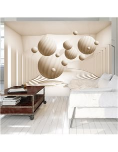 Papier peint BEIGE BALLS