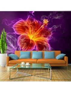 Papier peint FIERY FLOWER IN PURPLE