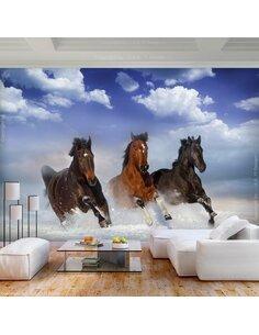 Papier peint HORSES IN THE SNOW
