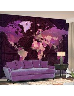 Papier peint PURPLE WORLD MAP