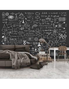 Papier peint SCIENCE ON CHALKBOARD