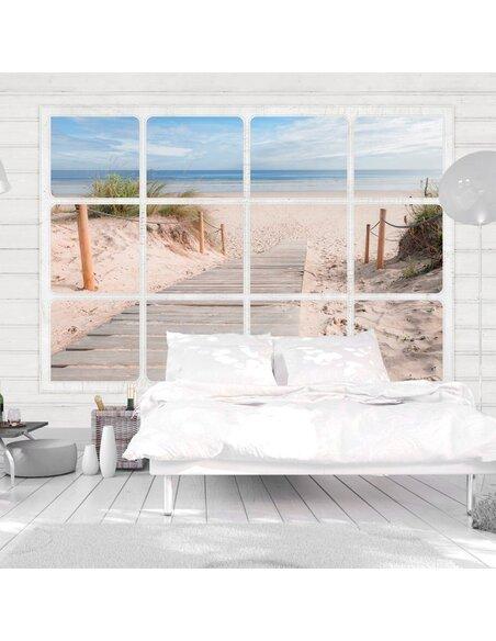 Papier peint WINDOW & BEACH | Artgeist | Vert