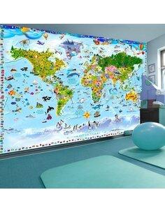 Papier peint WORLD MAP FOR KIDS