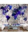 Papier peint WORLD MAP INK BLOTS