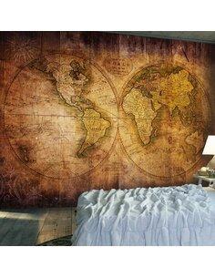 Papier peint WORLD ON OLD MAP