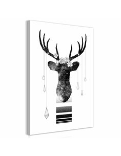 Tableau ABSTRACT ANTLERS VERTICAL