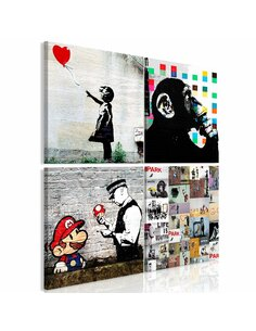 Tableau BANKSY COLLAGE