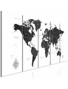 Tableau BLACK AND WHITE MAP NARROW