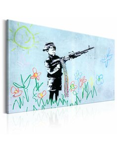 Tableau BOY WITH GUN BY BANKSY