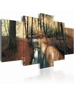 Tableau BROWN AUTUMN FOREST