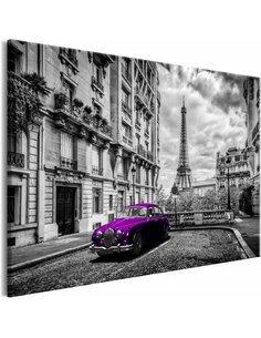 Tableau CAR IN PARIS VIOLET WIDE