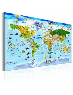 Tableau CHILDREN'S MAP COLOURFUL TRAVELS