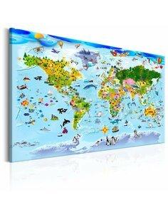 Tableau CHILDREN'S MAP COLOURFUL TRAVELS