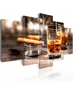 Tableau CIGAR AND WHISKEY