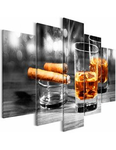 Tableau CIGARS AND WHISKEY WIDE