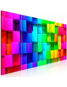 Tableau COLOURFUL CUBES NARROW
