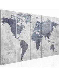Tableau CONCRETE WORLD MAP NARROW