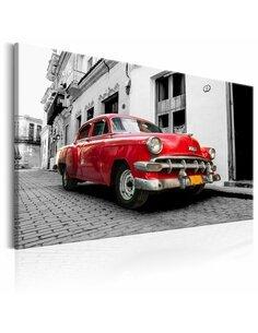 Tableau CUBAN CLASSIC CAR ROUGE