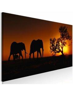 Tableau ELEPHANT FAMILY ORANGE