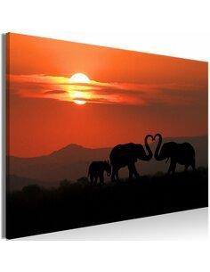 Tableau ELEPHANTS IN LOVE WIDE