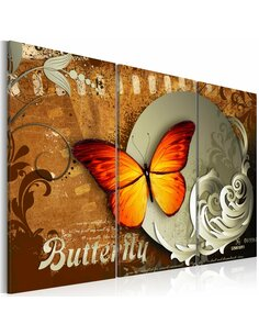 Tableau FIERY BUTTERFLY AND FULL MOON