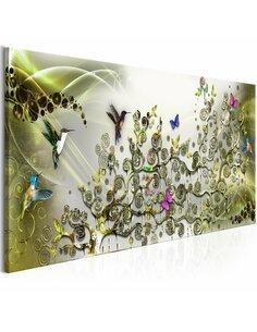 Tableau HUMMINGBIRDS DANCE GREEN NARROW