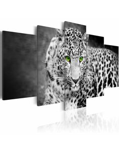 Tableau LEOPARD black&white