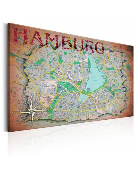 Tableau MAP OF HAMBURG