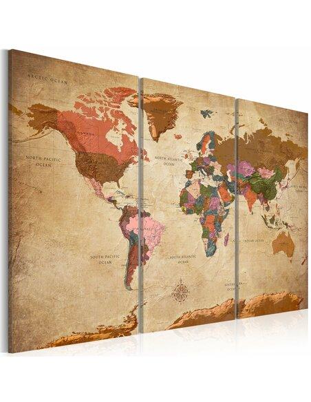 Tableau MAPS BROWN ELEGANCE
