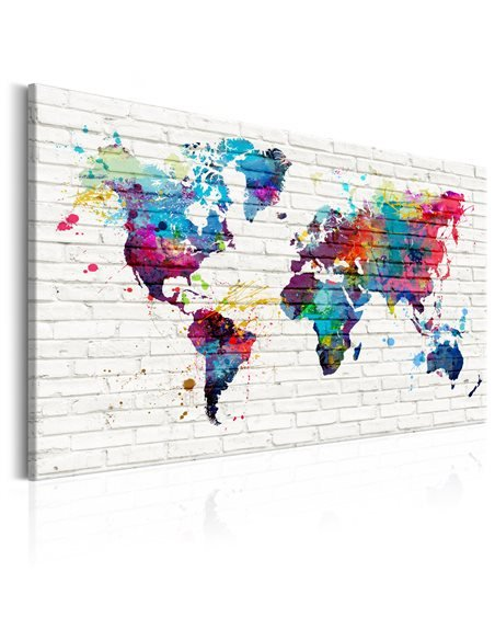 Tableau MODERN STYLE WALLS OF THE WORLD